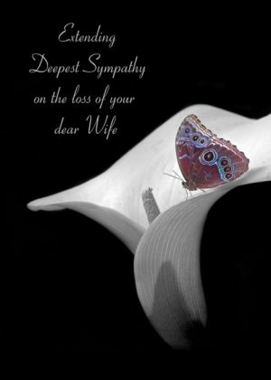 loss of wife sympathy with butterfly on calla lily card.jpeg